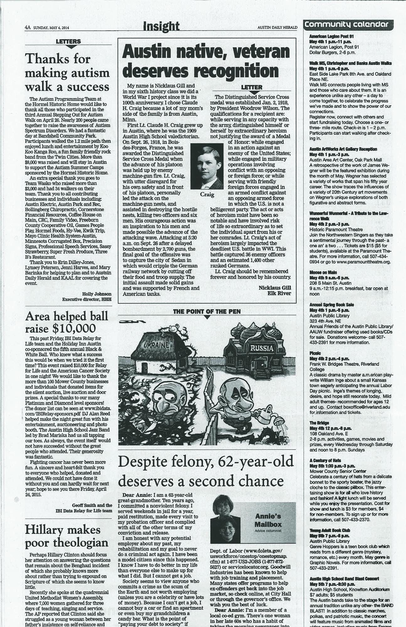 Nicklaus Gill--Austin Daily Herald (Minnesota)